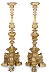 A PAIR OF CONTINENTAL GILTWOOD