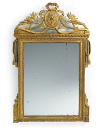 A LOUIS XVI GILTWOOD AND BLUE-