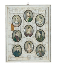 AN IVORY FRAMED SET OF NAPOLEO