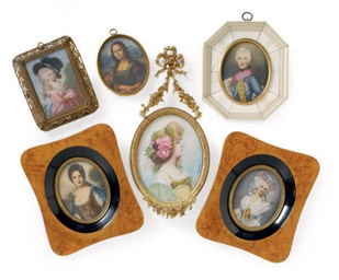 A GROUP OF TEN FRAMED PORTRAIT