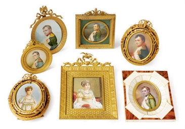 A GROUP OF EIGHT FRAMED PORTRA