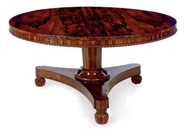 A ENGLISH ROSEWOOD PEDESTAL TA
