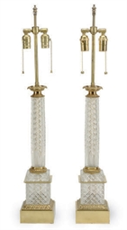 A PAIR OF GILT-METAL MOUNTED C