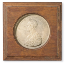 A FRAMED PORTRAIT RELIEF OF VO