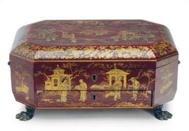 A CHINESE GILT AND LACQUERED W