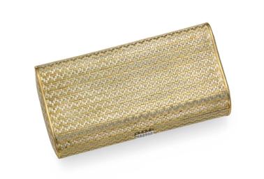 A BI-COLORED GOLD EVENING BAG