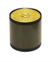 """A GOLD AND STEEL """"GAUZE"""" BOX, BY DANIEL BRUSH"""