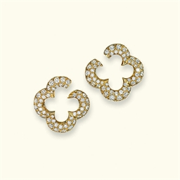 A PAIR OF DIAMOND 'ALHAMBRA' E