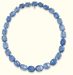 A SAPPHIRE NECKLACE, BY BULGAR