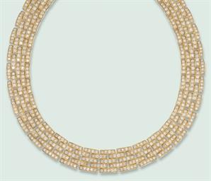 A DIAMOND-SET 'PANTHER' NECKLA