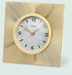 A DESK CLOCK, BY CARTIER