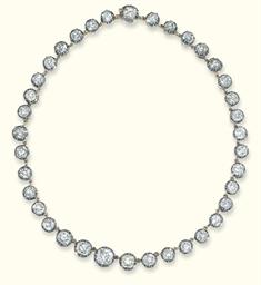 AN ANTIQUE DIAMOND RIVIERE