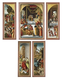 A triptych: the central panel:
