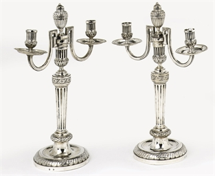 A pair of Austrian silver two-