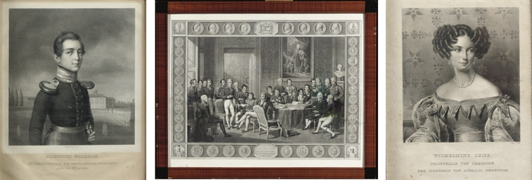 A GERMAN LITHOGRAPH DEPICTING