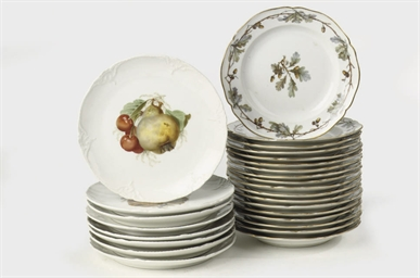 Two sets of Berlin KPM porcela