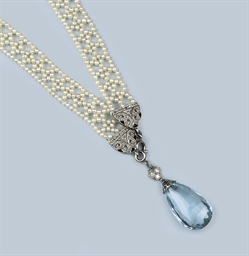 A BELLE EPOQUE AQUAMARINE AND