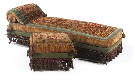 A GERMAN BEECHWOOD DAYBED AND