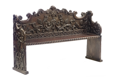 A DUTCH GRAINED HALL BENCH