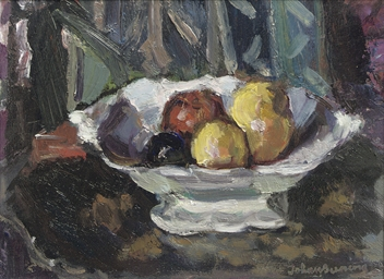 A still life with fruits in a