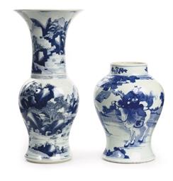 A Chinese blue and white Yanya
