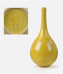 A Chinese yellow-glazed pear-s