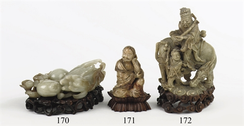 A Chinese soapstone carving of