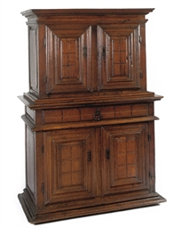 A FRENCH OAK CUPBOARD