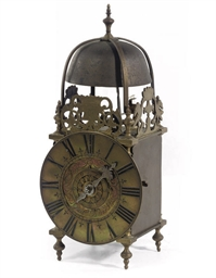 A FRENCH BRASS LANTERN TIMEPIE