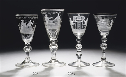 Two Dutch engraved goblets