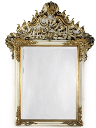 A GERMAN PARCEL-GILT AND WHITE