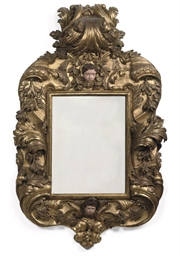 A SPANISH GILTWOOD MIRROR