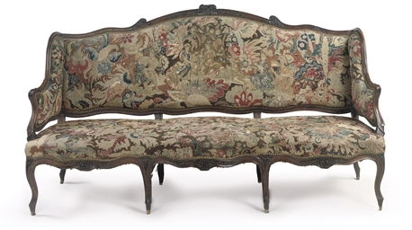 A Louis XV walnut sofa