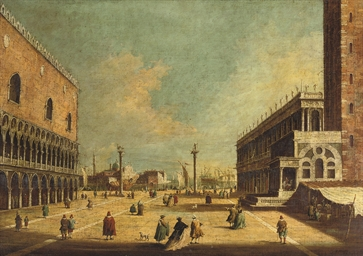 The Piazza di San Marco with t