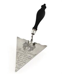 A Dutch silver presentation tr