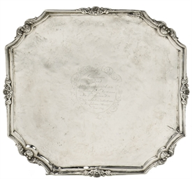 A Dutch colonial silver tray,