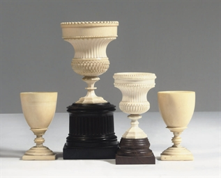 TWO ENGLISH IVORY, EBONY AND P