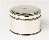 A Dutch silver circular biscuit box