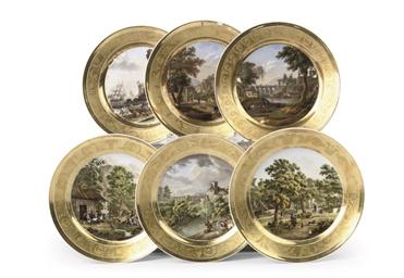 A set of six Paris (Schoelcher