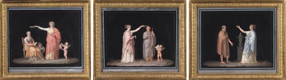 Sofocle e Melpone; Socrate e F
