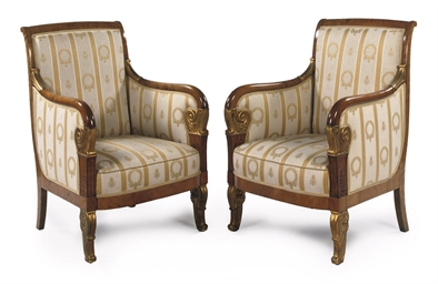 A PAIR OF BIEDERMEIER PARCEL-G