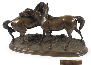 AN AMERICAN/FRENCH BRONZE EQUE