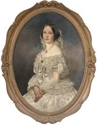 Portrait of a lady wearing a w