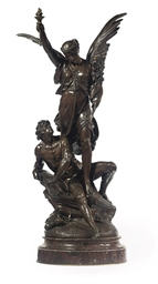A FRENCH BRONZE GROUP OF VICTO