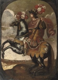 An equestrian portrait of Otto