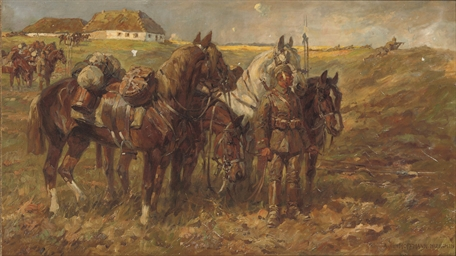Cavalry at rest