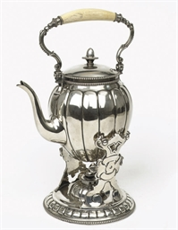 A Dutch silver bouilloire and