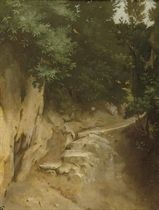 Study of a rocky path