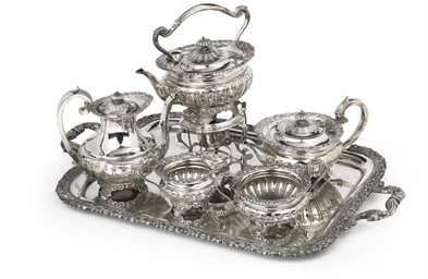 An English silver tea-service
