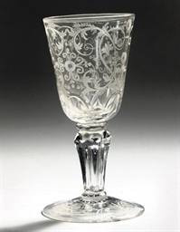 A GERMAN ENGRAVED GOBLET